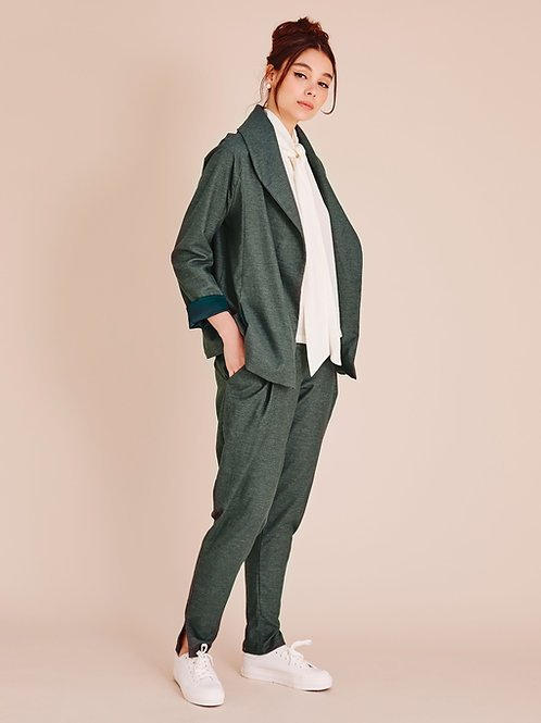 Pantalon Mae fuseau, Gris Eucalyptus