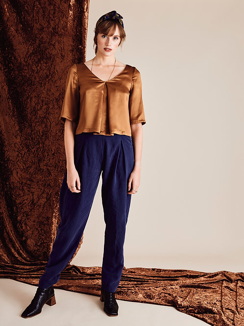 Daphne Cobalt Blue Tapered Trousers