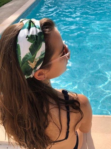Tropical Banana Leaf Headband