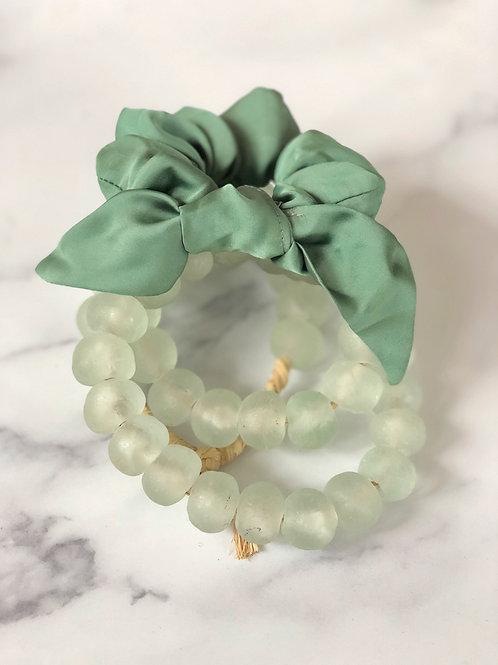 Emma Sea Foam Green Scrunchie