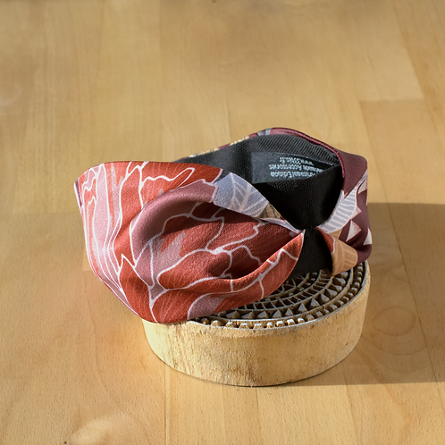Floral print in Burgundy Headband