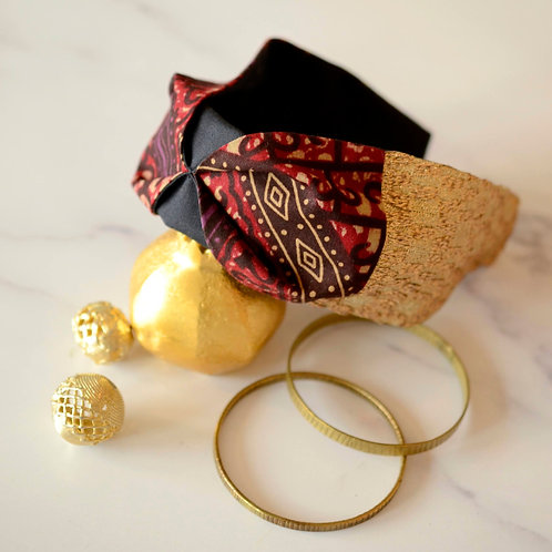 Zuri Gold & Wax Headband