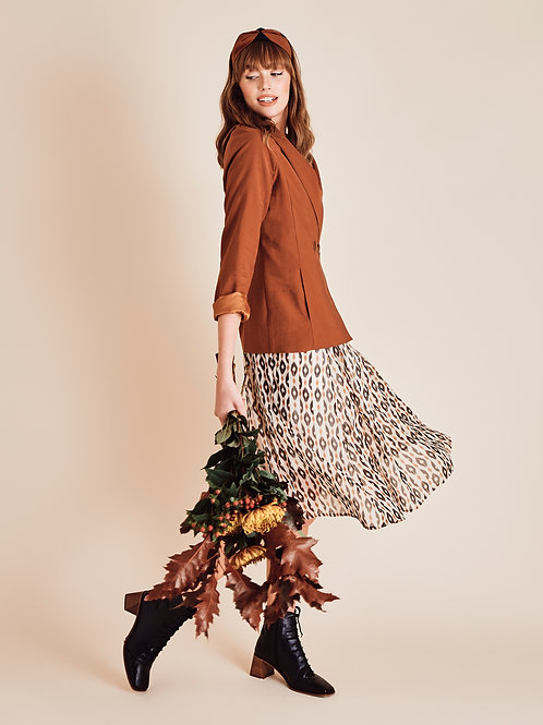 Jamila Hazel Print Midi Skirt