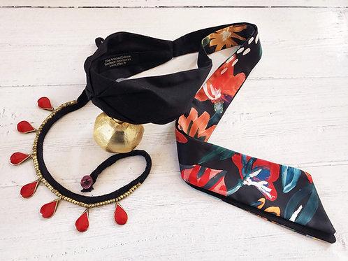 Headband Soraya imprimé fleuri coloré abstrait