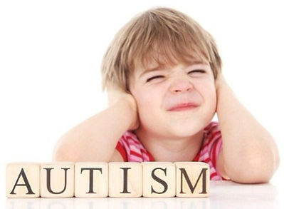 Boy with autism spectrum disorder