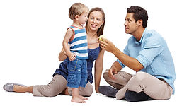 Parents with child