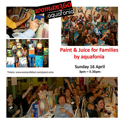 Paint & Juice for Families Sunday 16 April 3pm