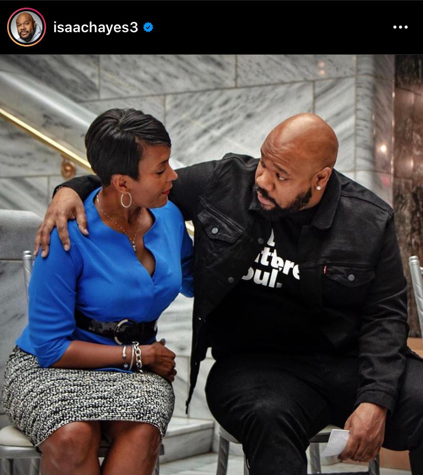 Isaac Hayes' son and the Mayor of Atlanta