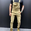 Thumbnail: Mens Solid Color Patchwork Overalls