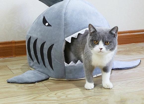 Washable Shark Pet Cushion Bed
