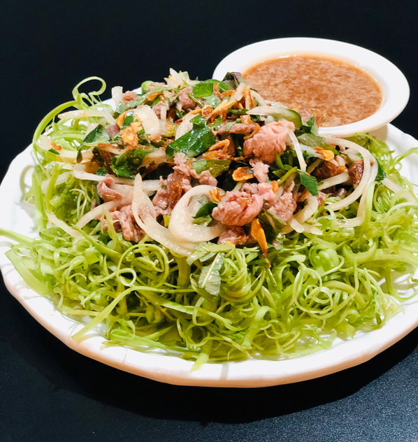 Rainier Beef Ong Choy Salad