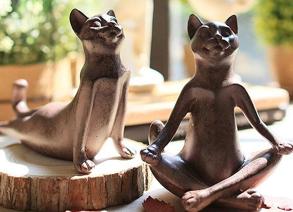 Yoga Cat Home Decor