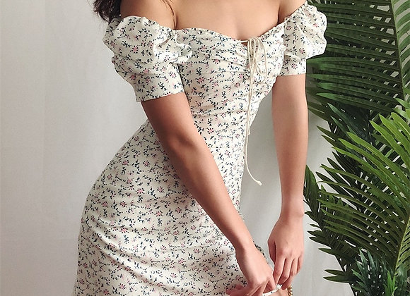 Mini Floral Puff Sleeve Dress