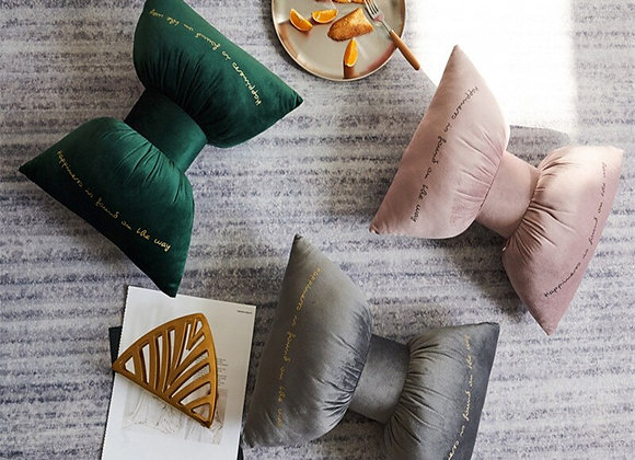 Solid Color Bow Pillow