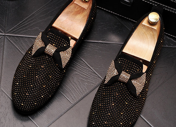 Luxury Designer Butterfly-Knot Loafers