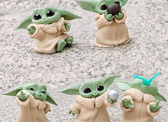 5Pcs Baby Yoda Action Figure Set