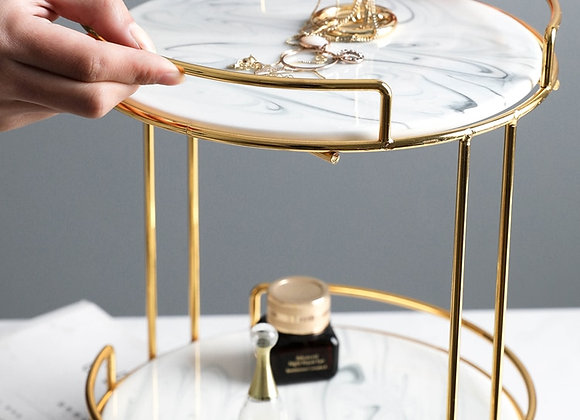 Double-Deck Cosmetics Tray