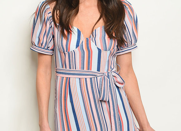 Lucky Stripes Belted Dress