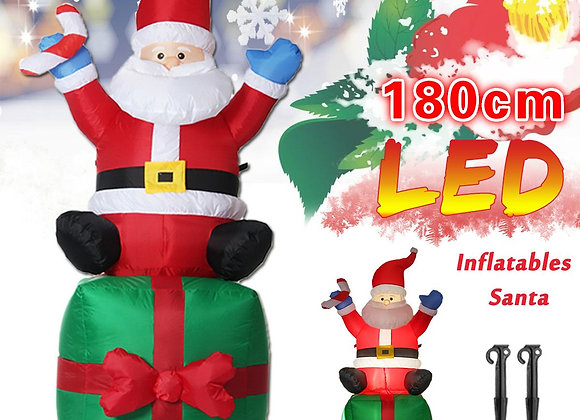 1.8M LED Inflatable Santa Claus Outdoor Decor