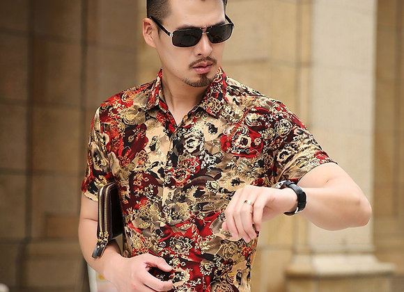 It's Never Too Late Floral Abstract Shirt