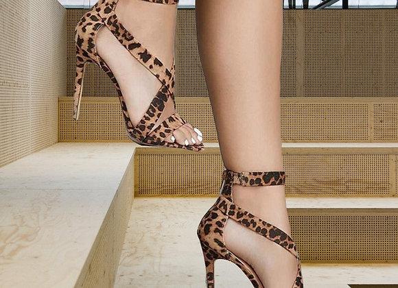 Gladiator Leopard Print Heels