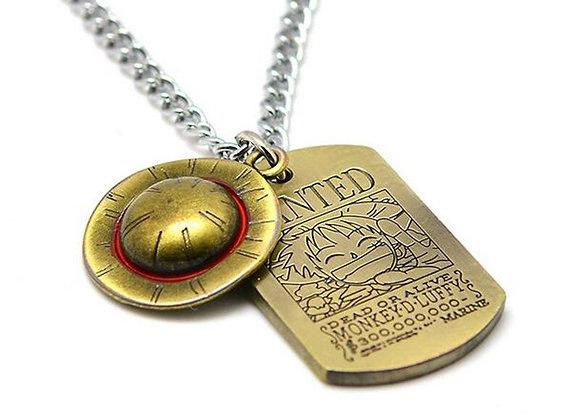 One Piece Necklace Bronze Metal Pendant