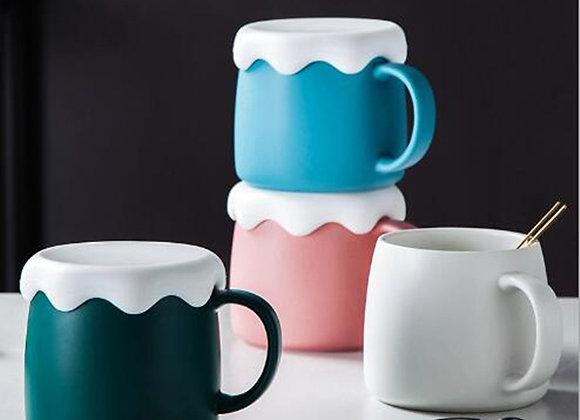 Marshmallow Top Ceramic Coffee Mug