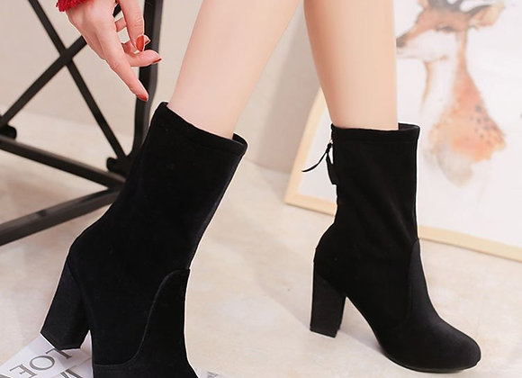 Solid Zip Ankle Boots
