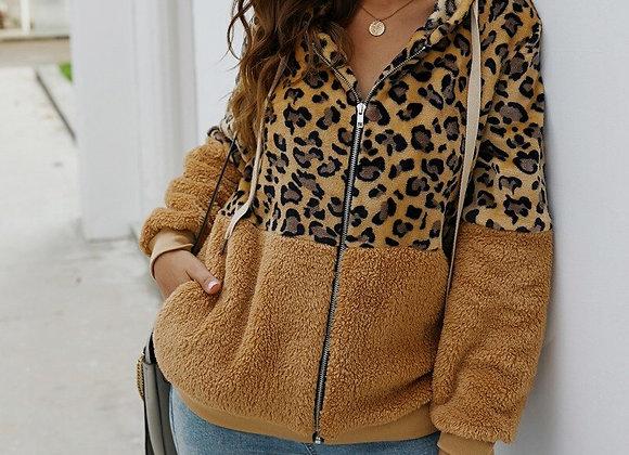 Cozy Autumn Leopard Hoodie