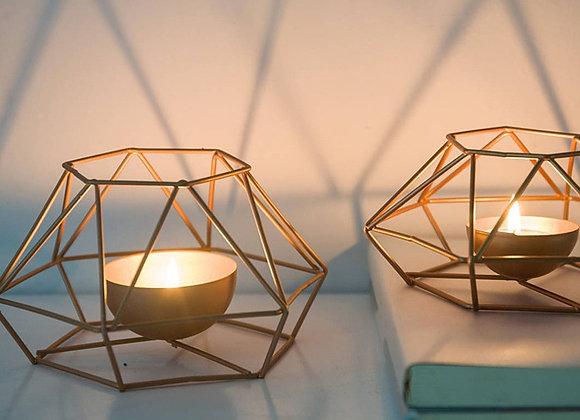 Geometric Iron Candle Holder