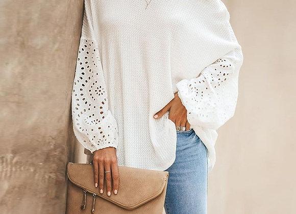 Floral Elegant Hollow Out Shirt
