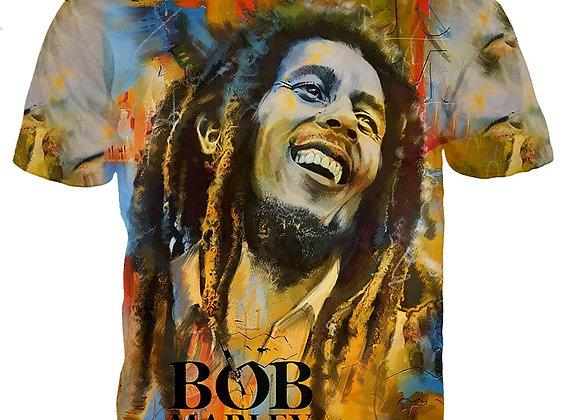 3D Bob Marley Printed T-Shirt (Unisex)