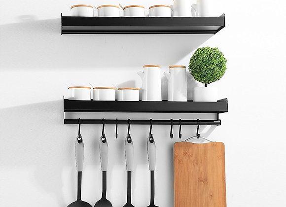 Wall-Mount Aluminum Kitchen Organizer