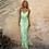 Thumbnail: Serenade Satin Lace Up Midi Dress