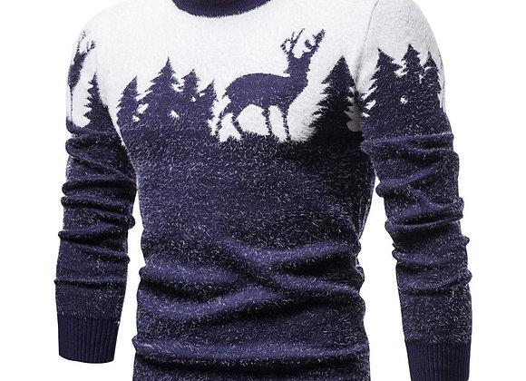 Christmas Tree Deer Print Sweater