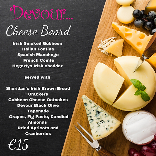 Devour Cheese Board