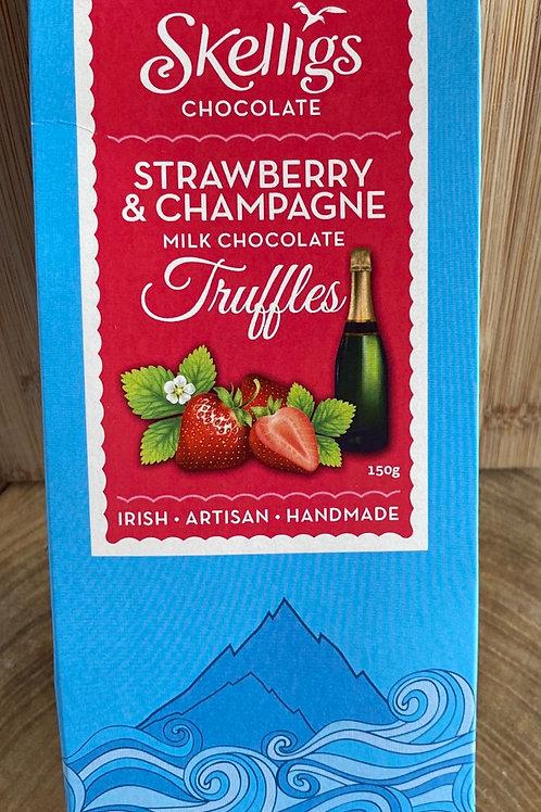 Skelligs Truffles Champagne & Strawberries