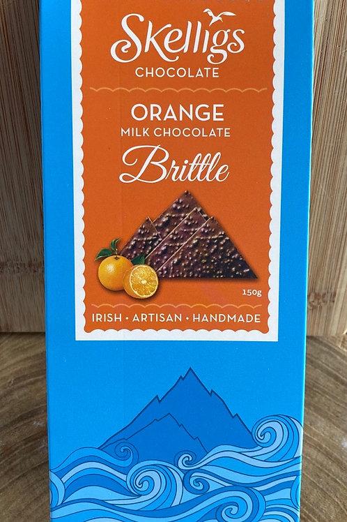 Skelligs Brittle Orange Milk Chocolate