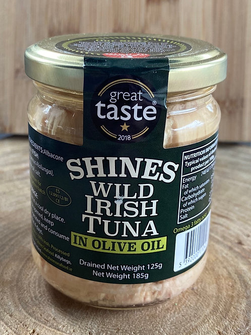 Shines Wild Irish Tuna in Olive Oil