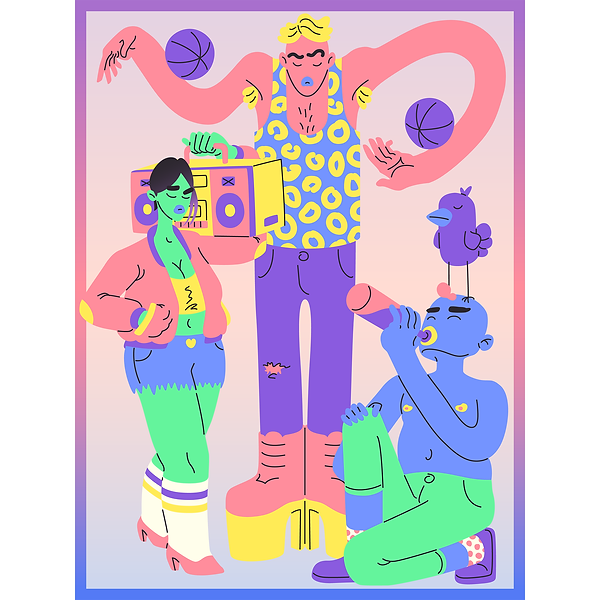 Colorful 2D Characters