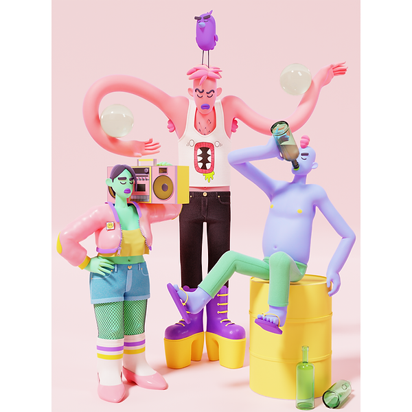 Colorful 3D Characters