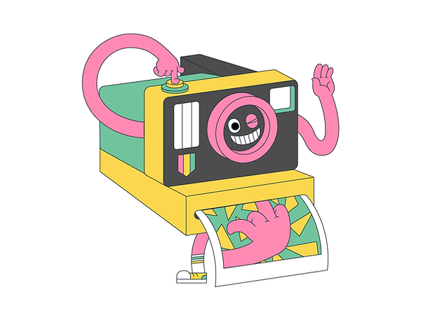 Colorful Minimalistic 2d Characters