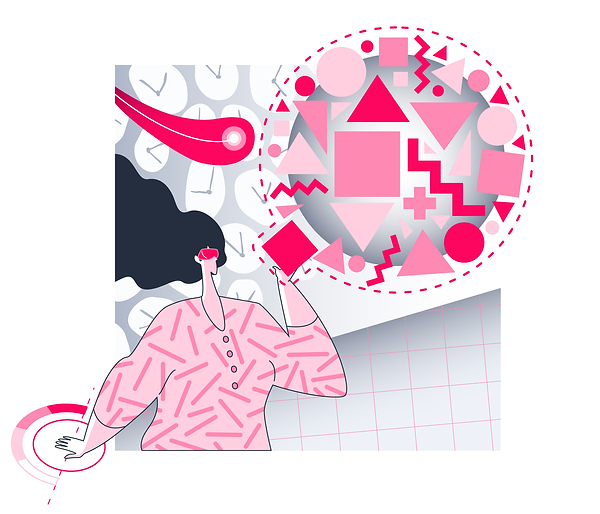 illustration of data engineer completing the puzzle