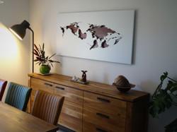 Carte du monde baleine