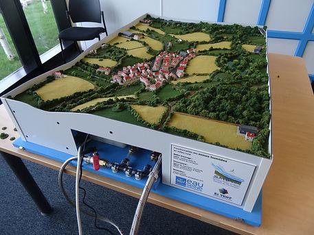 Maquette pédagogique zones humides SMBVA Armançon