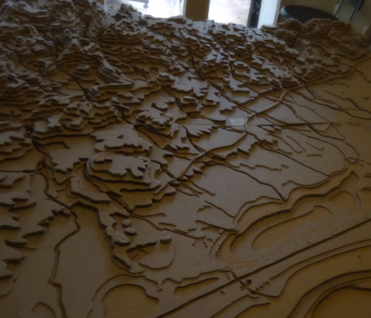 Matrice topographique bassin de l'Or