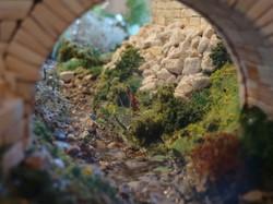 Maquette d'une portion de rivière