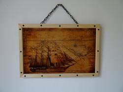 Impression bois Bateau pirate 2