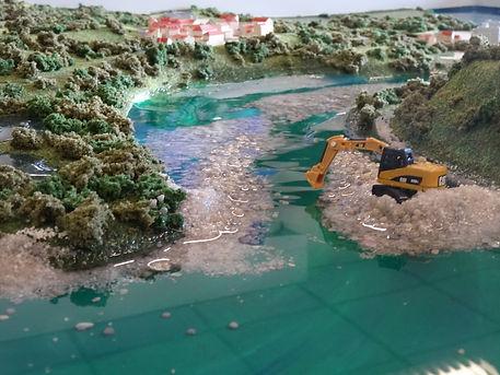 Maquette hydraulique fédération de pêche Haute Saône