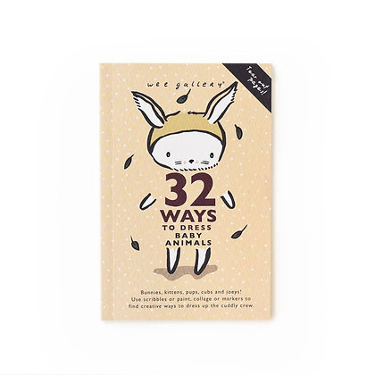 Wee Gallery 32 Ways to Dress Baby Animals Activity Book